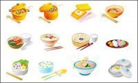 Comida chinesa Vector Icons