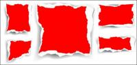 Rote Schreddern Vektor