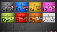 Série de conception logiciel adobe dossier icône png