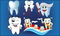 Vektor-Illustration-Zahnpflege