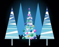 Material de vetor Linda árvore de Natal
