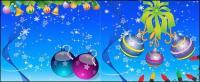 Santa Claus, kaus kaki, tergantung bola, ski, malaikat, lilin