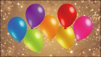 Estrela fundo colorido Vector material de balão