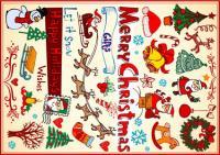 أشجار عيد الميلاد، عيد الميلاد اكاليل الزهور، الشموع، واجراس