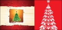 Árboles de Navidad, el vector de estrellas