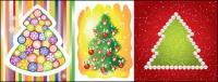 절묘 한 크리스마스 트리 벡터