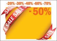 Продажа ленту карты вектор