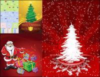 Cartões, caixas, presentes de Natal, vetor de escudos de embalagem