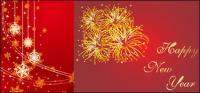 Костыли, ленточки, Луки, фейерверки, счастливый Новый год