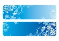 Vecteur de flocon de neige bleu