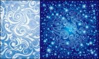 เวกเตอร์ลวดลายสีฟ้าสวย