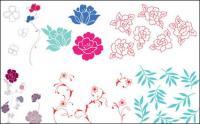 Un caso simple de flores, hojas de vectores