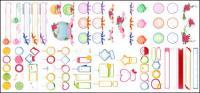 タグ、ダイアログ ボックス、弓、バラのベクトル