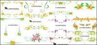 벡터 꽃과 레이스 패턴