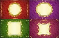 円形、正方形のパターン、ベクトルのレース