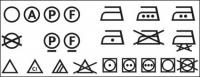 Matériau de logo icône vecteur de lavage