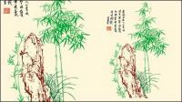 Bambu, material de vetor de pedra