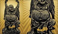 Buddha vektor bahan