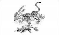 Material de Vector clásico de Tigre