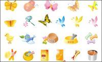 Les papillons, les aliments pour animaux familiers, vecteur de poulet