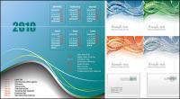 2010 年のカレンダー、線とメール素材をベクトルします。