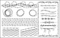 Alambre de material de vectores
