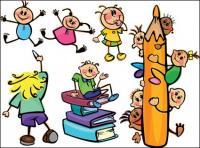 Élèves, crayon, livre