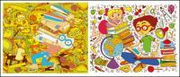 Estudiantes de ilustración vectorial para aprender el tema
