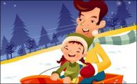 illustrator de familia animada iClickart -15 material de vectores