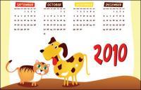 Vecteur 2010 calendrier