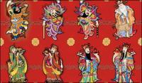 Благоприятный векторные изображения китайский новый год