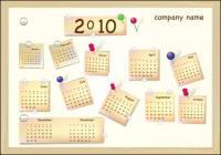 Вектор календарь новый год 2010