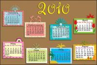 Calendário de 2010 vector