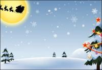 Векторные рождественские снег