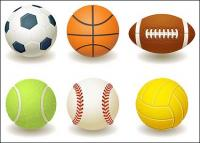 Fußball, Basketball, Rugby, Tennis, Baseball, Volleyball-Vektor-material