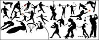 Saut en hauteur, football, basket-ball, tennis, baseball, plongée, parachutisme, haltérophilie, patinage