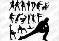 Vector เต้นรำ เต้นรำ บัลเลต์ hip-hop