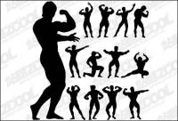Fitness Person Action Silhouette Vektor