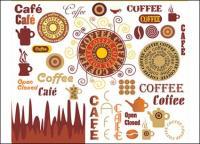 कॉफी कला वेक्टर सामग्री