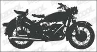 Motocicleta siluetas vector material