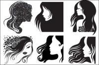 Женской головы, волосы вектор