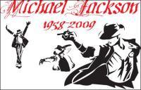 Michael Jackson คลาสสิกระทำเวกเตอร์วัสดุ