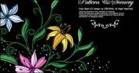 Pintados à mão flores do vetor-1