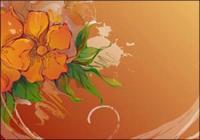 Flores pintados a mano de vectores de material-2