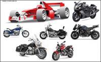 Material de vector de coche de motociclismo
