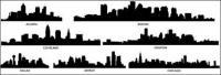 เมืองรูปเงาดำเวกเตอร์ -2 วัสดุ