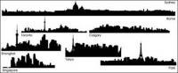 Silueta de la ciudad -1 material de vectores