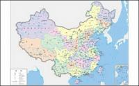 China mapas vectoriales (cuatricromía)