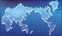 Mapa de textura de cristal del vector mundial