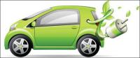 เวกเตอร์รถสีเขียว